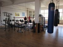 The arena at Joe's Boxing Gym, where the members have sweat nearly an Olympic pool for the last 20 years.